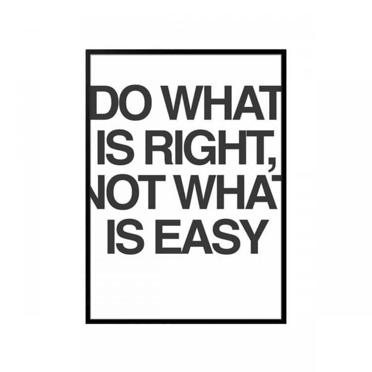"""TRANH CHỮ """"DO WHAT IS RIGHT""""-0"""