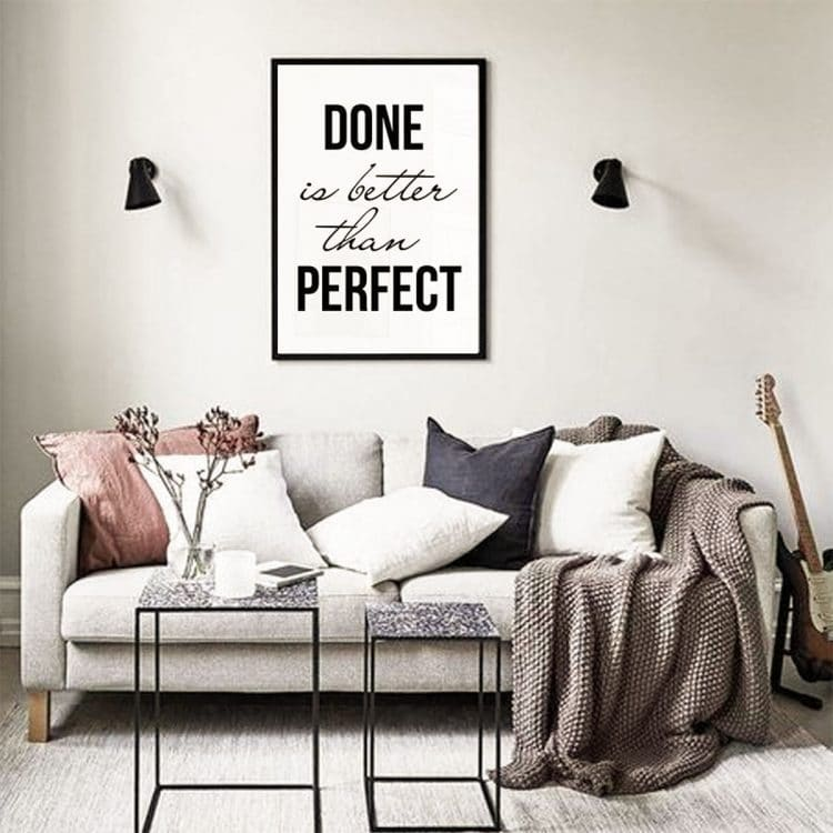"TRANH CHỮ ""DONE IS BETTER THAN PERFECT""-0"