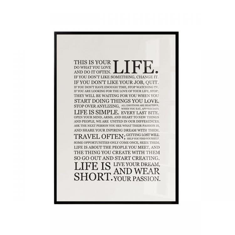 """TRANH CHỮ """"LIFE""""-2219"""