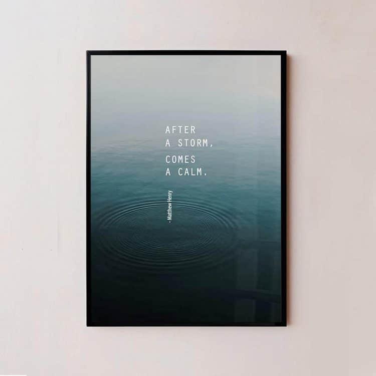 "TRANH CHỮ ""AFTER A STORM""-0"