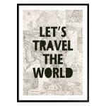 """TRANH CHỮ """"LET'S TRAVEL THE WORLD""""-0"""