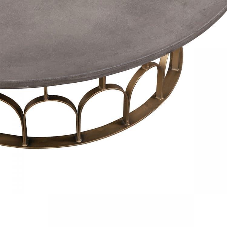 GATSBY COFFEE TABLE 115CM, CONCRETE TOP-4637