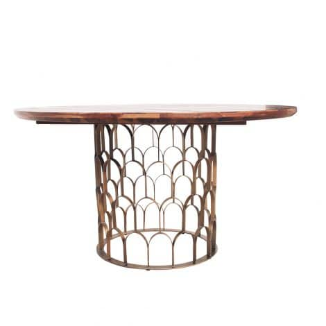 GATSBY DINING TABLE 140CM, WOODEN TOP-0
