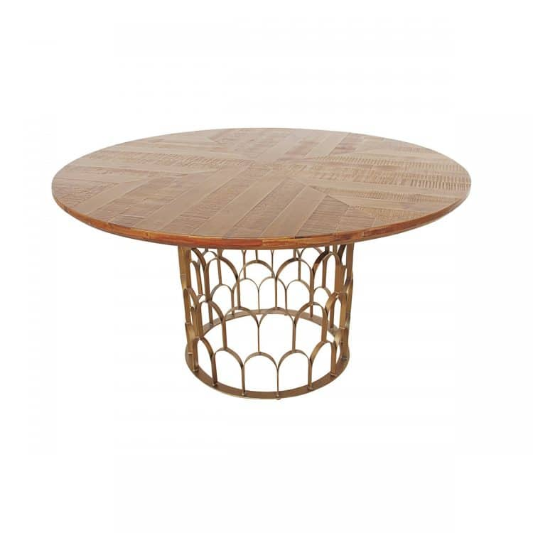 GATSBY DINING TABLE 140CM, WOODEN TOP-4905