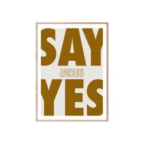 "TRANH CHỮ – ""SAY YES""-0"