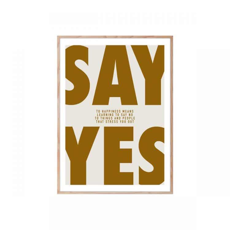 "TRANH CHỮ - ""SAY YES""-0"