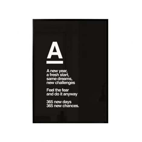 "TRANH CHỮ – ""A"" 40CM-0"