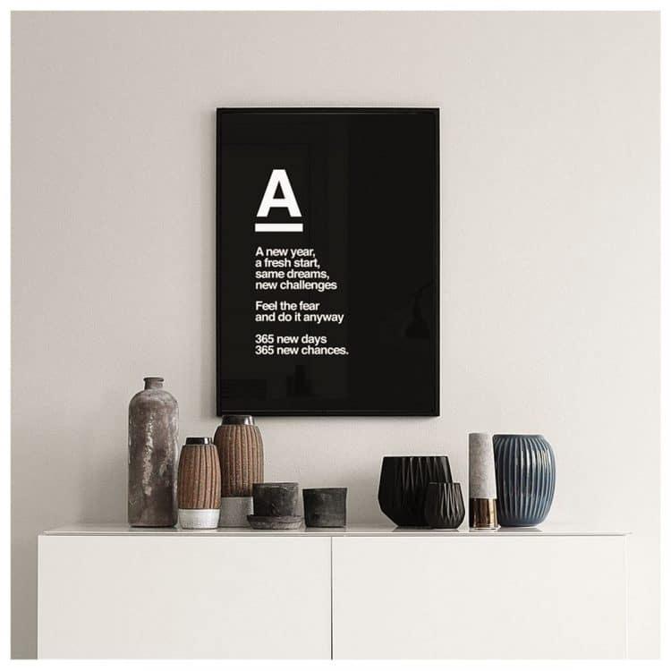 "TRANH CHỮ - ""A"" 40CM-5485"